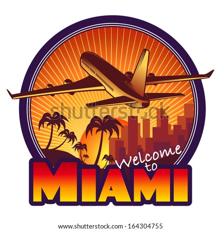 designed travel label  miami