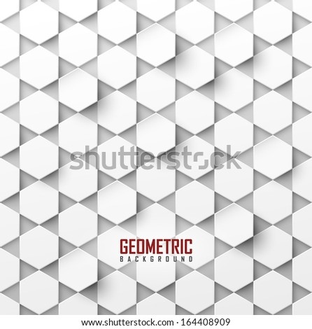 white vector geometric