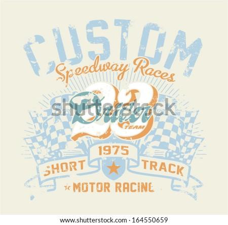 motor race contest   vintage