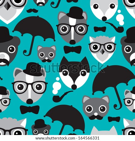 seamless umbrella hipster owl