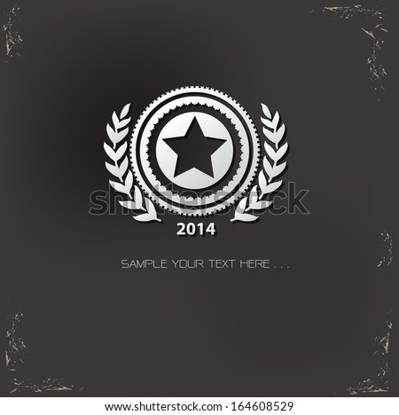 star badge symbol vector