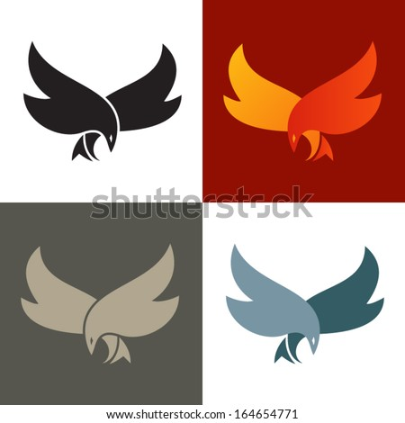 fire bird silhouette icon