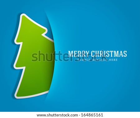 christmas green tree background