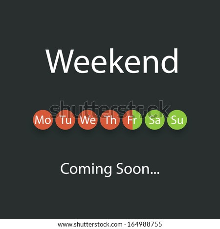 weekend coming soon   vector
