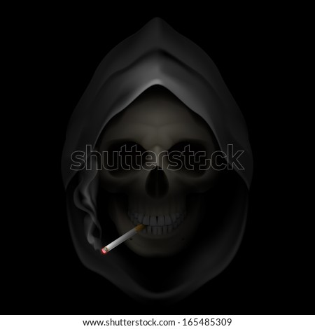 death image with cigarette