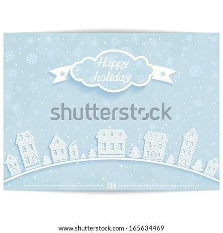 abstract happy holiday card