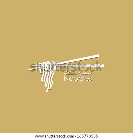 noodles with chopsticks