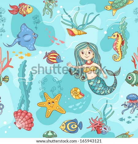 blue seamless pattern with