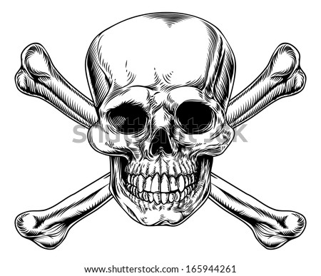 skull and crossbones sign in a