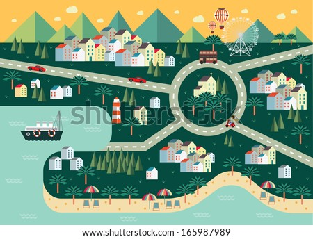 cityscape town township village