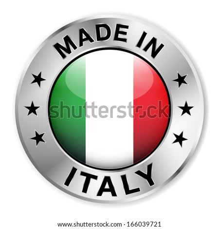 made in italy silver badge and