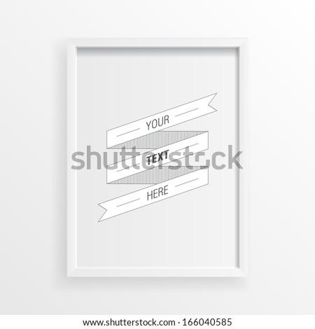 3d minimal white picture frame