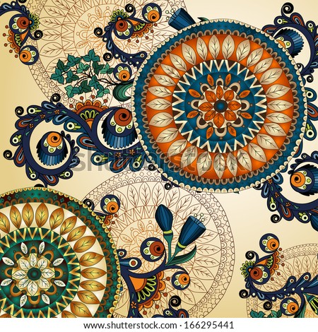 vector floral ethnic decorative