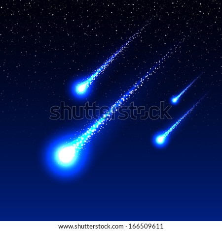 meteor shower in the night sky