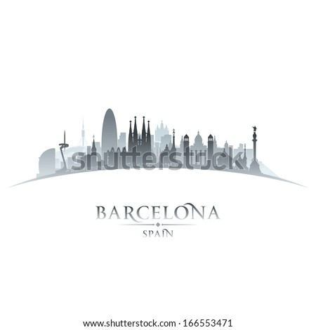 barcelona spain city skyline