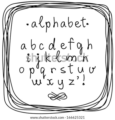 vector doodle alphabet and