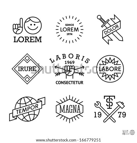 minimal vintage labels with man