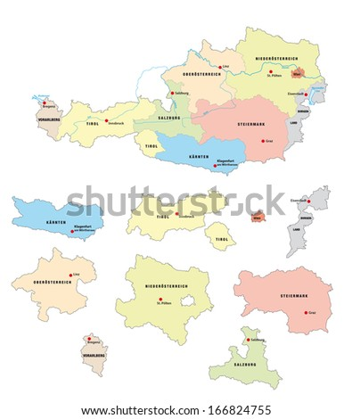 austria administrative map