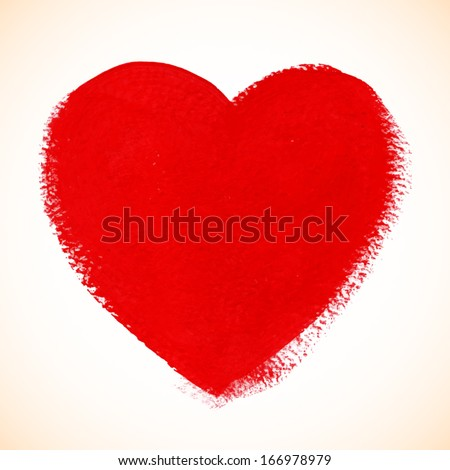 red vector acrylic painted heart