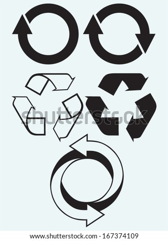 recycling symbol isolated on