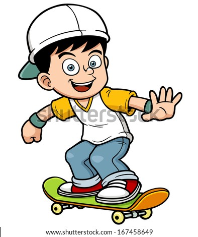 vector illustration of boy