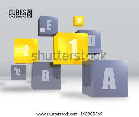 realistic cubes background