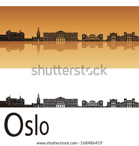 oslo skyline in orange