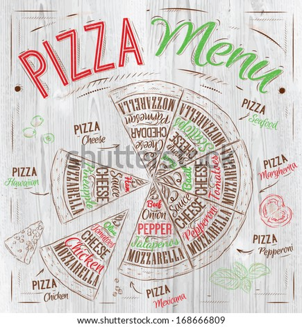 pizza menu the names of dishes