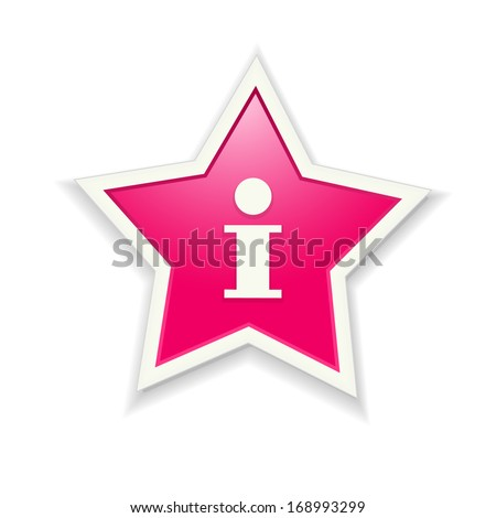 the pink star icon graphic