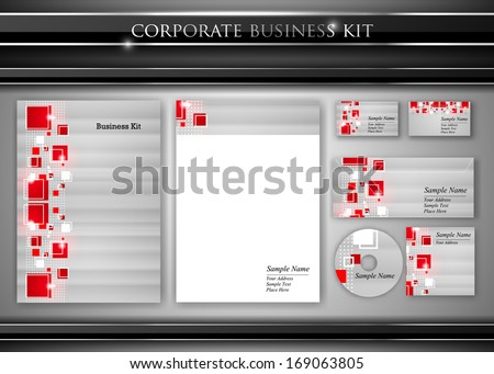 corporate identity kit or