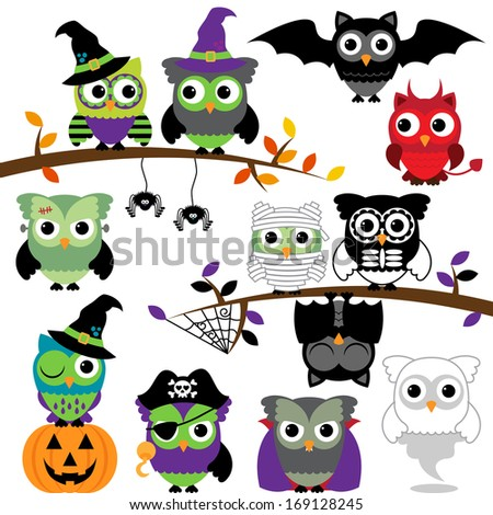 vector collection of spooky