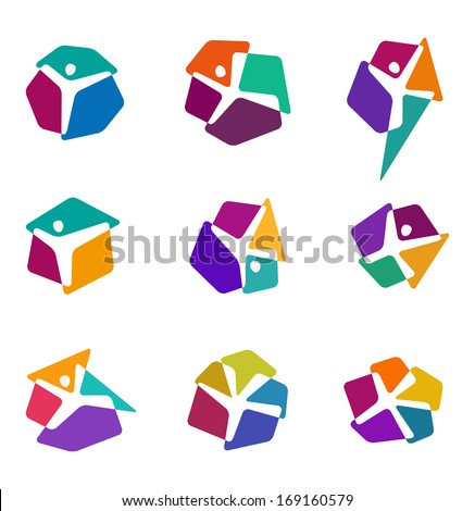 design colorful people vector