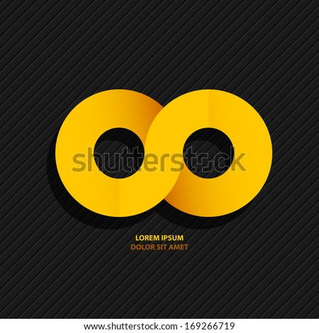abstract yellow symbol of