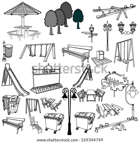 outdoor park vector elements