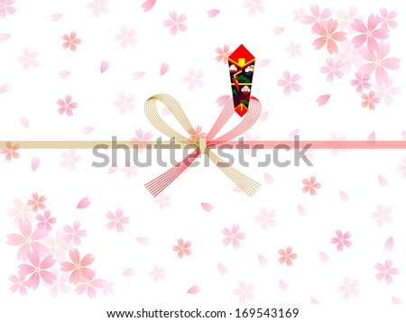 sakura background noshi