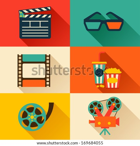 set of movie design elements