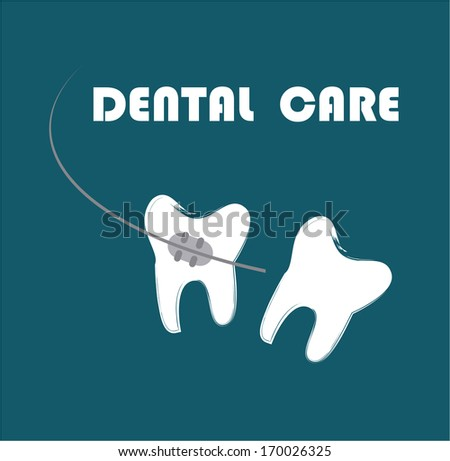 dental care over blue
