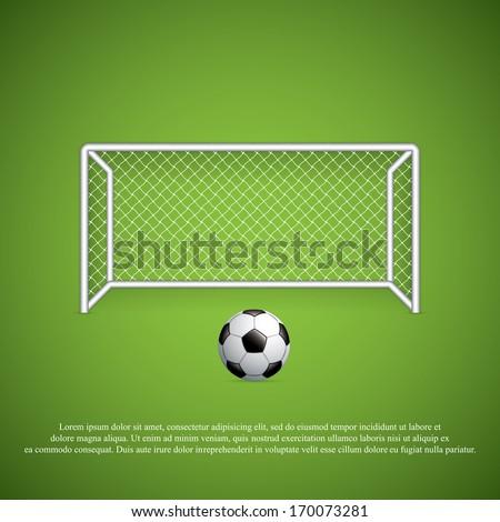 soccer goal and ballvector