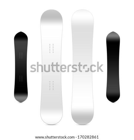 blank snowboard template