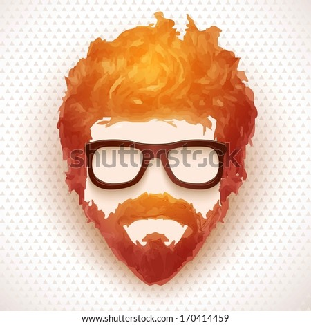 hipster man vector illustration