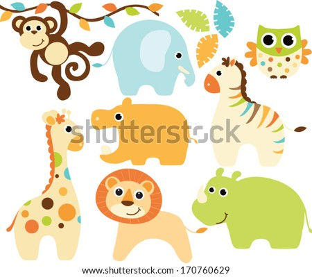 baby safari animals   boy