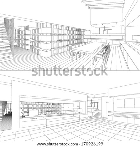 interior vector drawing