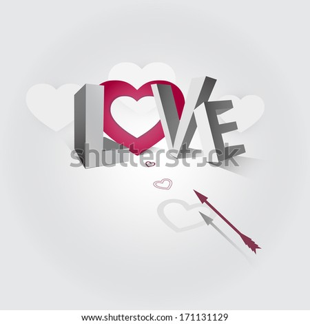 illustration of the word love