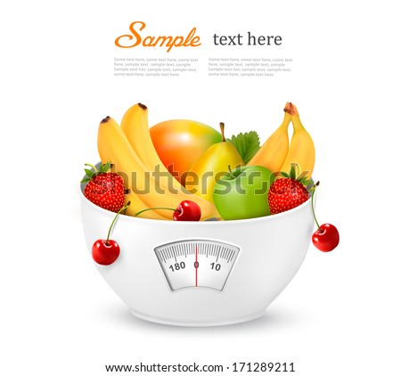 fruit with in a weight scale
