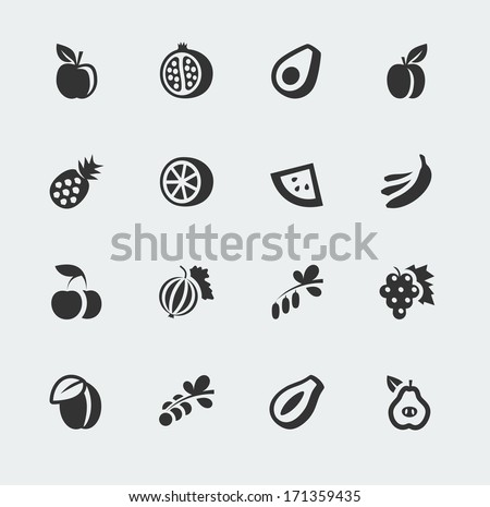 vector fruits and berries mini
