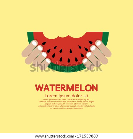 hand hold a piece of watermelon
