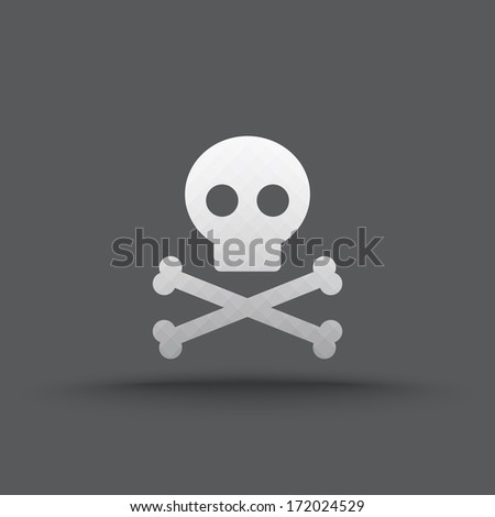 vector of transparent skull and