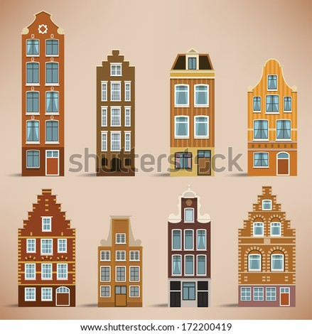 8 holland houses  retro colors