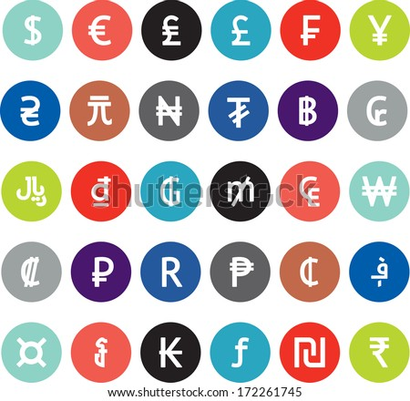 vector currency symbols  world