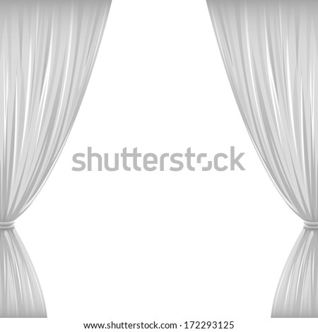 a pair of white drapes on white